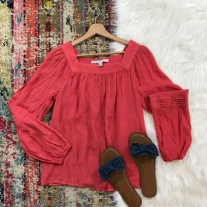 LC Lauren Conrad • Coral Long Sleeve Tunic